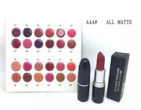 Wholesale New Color Lipstick - lowest price New Arrivals hot makeup matte lustre lipstick 3g with name 24 color