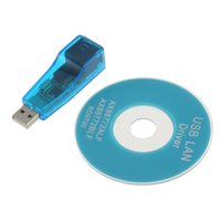 USB 1.1 Para LAN RJ45 Ethernet 10 / 100Mbps Adaptador de cartão de rede para Win7 Win8 Android Tablet PC Blue Wholesale