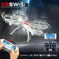 Wholesale Glass Axis - X5SW-1 RC Quadcopter Drones 4CH 6-axis Gyro FPV Real time RC Flying Helicopter with VR 3D glasses for Adult