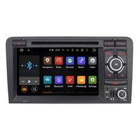 Wholesale Double Din Audio - Quad Core Android 5.1.1 Car GPS Navigation 1024*600 Double 2 Din Radio Audio Head Unit For Audi A3 2003-2013 S3 Car DVD Player