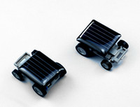 Wholesale Solar Toy Racing Car - 200pcs lot # Mini Smallest Solar Powered Robet Racing Car Moving Drive Car Fun Gadget Toy For Kids