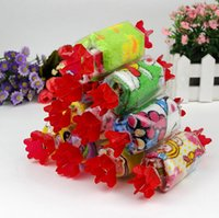 serviette faveur de fête de mariage achat en gros de-Dessin animé pur coton bonbon gâteau serviette cadeau créatif faveur de mariage faveur de l'enfant mini carton serviette livraison gratuite