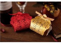 Wholesale Hot Boxs - 100pcs Chinese red Wedding Candy Box Hot Laser Cut Candy Gift Boxs Chinese creative candy box BUTTERFLY FLOWERS Hollow out box TH20