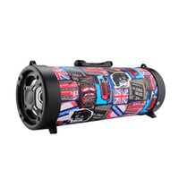 Wholesale 15w Speaker - CH-M18 subwoofer 15W Big Power Wireless Bluetooth Speaker Portable Cool Graffiti Hip hop Style Adjustable Bass Outdoor Music Player in Stock