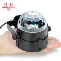 Wholesale Green Strobe Bulb - 11.11 Shopping Festival 3W Mini RGB LED Crystal Magic Ball Stage Lighting Effect Lamp Bulb Party Disco Club DJ Light Show