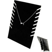 Wholesale Wholesale Jewellery Stands - Hot Black Velvet Jewellery Necklace Chain Pendant Display Show Holder Stand