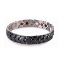 Wholesale Bio Energy Power - Fashion Jewelry 3 colors Chain Bracelets & Bangles Bio Energy Healing Titanium Magnetic Bracelet Men Jewelry Power Bracelet Gift For Men