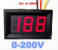 """Wholesale Panel Meter Amp Car Dc - 0.56"""" 3 digital Multimeter Panel Voltmeter red LED Car Electric Vehicle Voltage Amp Meter volt tester DC 0-200V"""