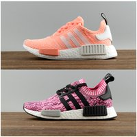 Hot Sale 2017 New NMD R1 W Running Shoes Alta qualidade Mulheres Red wine Pink Nmd Runner R1 Sneakers sapatos esportivos eur 36-39