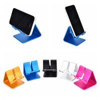 soporte de aluminio para ipad al por mayor-RAXFLY Aluminio Soporte para teléfono de metal para escritorio Soporte universal para teléfono móvil antideslizante Escritorio para iPhone 6s 7 Plus ipad Samsung Tablet