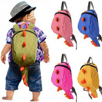 Kids Kindergarten Cute Cartoon Animal Tail Backpack Criança Dinossauro Mini School Bags Snacks Sacos pequenos para Girs Boys and Baby