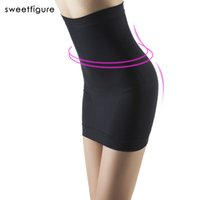Wholesale Sexy Hip Tube - Wholesale-Women Seamless Slimming package hip Dress Tube Control Slips Half Shapwear Abdomen Sexy Beauty Seamless wild bottoming