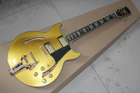 Wholesale Green Electric Jazz Guitar - Free Shipping New arrivals from Top Quality LP Custom Jazz Hollow Electric Guitar with gold color