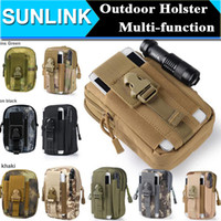 Wholesale Plastic Tactical Holster - Universal Outdoor Tactical Holster Military Molle Hip Waist Sport Bag Wallet Case Purse Phone Case with Zipper for iPhone LG HTC Samsung
