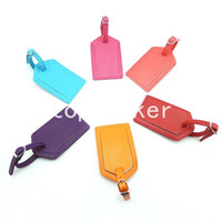 Wholesale Colorful cm PU bags luggage tag travel cards finaning travel bag finaning faux leather luggage tag