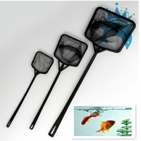 Wholesale Nets Shrimp - New Hot Sale 10pcs Aquarium Fish Tank Plastic Handle Small Shrimp Betta Tetra Fish Tank Net Kit Free Shipping