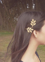 Wholesale Grecian Wholesalers - Gold Leaf Branch Bobby Pins Bridal Hair Pins Bridal Hair Clips Rustic Woodland Wedding Bridal Hair Accessories Grecian Hair Autumn Fall