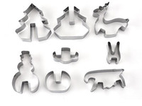 Wholesale hot cookies for sale - Home Garden Baking Moulds Hot Set DIY Stainless Steel Bakeware D Christmas Cookie Cutter
