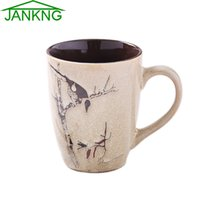 Wholesale g tea for sale - Group buy JK HOME mL Chinese Culture Ceramic Mugs Cup Novelty Hand Painted Swan Coffee Mug Cup Gift Tea Cup Elegance Color Milk Mugs