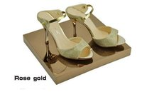 Rose Gold Metal Boutique Schuhe mit Display Sandalen Schuhe Display Stand Schuhhalter Keeper Rack