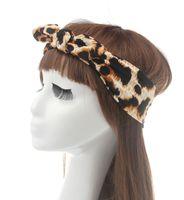 Wholesale Korean Wigs Women - Cotton Korean version the new play festival zebra leopard hair accessories knot headwrap elastic women headband 2 colors