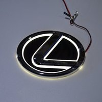 Wholesale Lexus Car Emblem - Car Styling Special modified white Red Blue 5D Rear Badge Emblem Logo Light Sticker Lamp For Lexus LS270 RX450 CT200 EX250