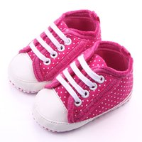 Wholesale Fancy Slips - Beautiful Dot Design Fancy Rose Baby Shoes for Girl Leather's Toe Cap White Lace-up Soft Sole Anti-slip Infant Shoes Wholesale