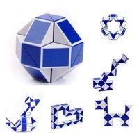 Wholesale Magic Ruler Puzzle Shengshou - Shengshou Snake Magic Cube Puzzle Twist Jigsaw Puzzle Magic Ruler 3D Snake Toys Children Education Intelligence Toy Free Shipping