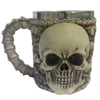 Wholesale Xmas Decoration Items - Hot Item 3D Skull Pattern Xmas Wine Coffee Tea Cup Home Party Hotel Christmas Decoration Fashion Mug DIY