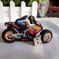 Wholesale High Speed Motorcycle - 25gb 128gb 64GB 32GB 16GB Cartoon Motorcycle YAMAHA R1 MOTORRAD USB 2.0 Memory Stick Flash Pen Drive U Disk
