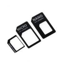 Wholesale Microsim Sim Nano - Wholesale SIM MICROSIM Adaptor Adapter 3 in 1 for Nano SIM to Micro Standard for Apple for iPhone 5 5g 5th High Quality
