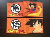 Wholesale Coin Purse Balls - Japan anime Dragon Ball Z wallet 3D Son Goku cosplay women Men yellow Wallets Coin Pocket Card Holder purse