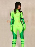 Rogue X-Men Green Superhero Lycra Spandex Catsuit No Hood Halloween Party Cosplay Zentai Suit