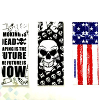 ingrosso bandiera nazionale usa-18650 Batteria Wrap National USA Bandiera Vaping Proverbi Skeleton Skull Army PVC Heat Shrink Sticker Wrapper DHL Free