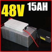bateria de bateria de lítio de 48v venda por atacado-Bateria de lítio de 48V 15AH, com o Chargrer de 1000W BMS, bateria elétrica do