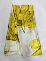 Wholesale beautiful silk dresses - 5Yards pc Beautiful white and yellow chiffon silk lace african smooth and soft silk fabric with rhinestone for dress JS30-2