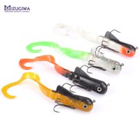 Wholesale Shallow Lures - 4Pcs Lot Mizugiwa Shallow Pike Lure 20Cm 45G Fishing Soft Bait Musky Wobbler Jerkbait Spring Dawg Bulldawg Freshwater 3D Eyes