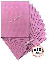 rosa sego headtie großhandel-10 sätze 20 stücke insgesamt baby rosa punktiert Afrikanische SEGO headtie Kopf schal wrap kopfbedeckungen Afrikanische sego gele hohe qualität