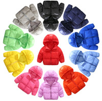 Wholesale white winter coats for baby - Baby Jacket Winter Christmas Baby Kids Cotton Outwear Girls Boys Warmth Coat Girl Hoodies Outwear For 1~3 Y