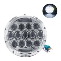 """Wholesale motorcycle headlight lenses - Partol H4 7"""" Motorcycle LED Headlight With DRL Spider Eyes Style 75W High Performance 4D Projector Lens For Harley Davidson"""