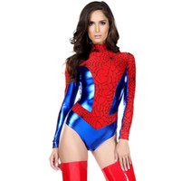 Wholesale Sexy Super Man Cosplay - 2016 New Arrival Women Cosplay Halloween Spider-Man Theme Costume Masculine Seductive Apparel Sexy Super Hero Spider-Man Stage Wear 8953