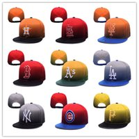 Wholesale Faded Snapback - Cheap Sport Caps Popular Line Fade Snapback Hats Adjustable Cap Flat Brim Baseball Caps Team Fans Hats