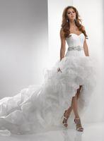 Wholesale Reference Bar - 2017 wedding dress beaded sleeveless floor vertical grab bar hand-crystal diamond flower belt asymmetrical dresses