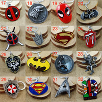 Wholesale Key Chains Pack Wholesale - Retail Pack Superhero Avengers Iron Man Captain America spiderman deadpool mask Rolling Stones Zelda Key Chain keyrings Autobot key rings