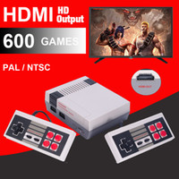 Wholesale Music Retro - HDMI Out Retro Classic handheld game player Family TV video game console Childhood Built-in 600 Games For nes mini P N HD Out