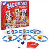New Hedbanz Guess Game For Baby Interessante Família Party Poopyhead Board Game Trading Cards CCA8329 52pcs