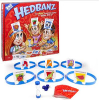 Wholesale Trade Wholesaler Baby Toys - New Hedbanz Guess Game For Baby Interesting Family Party Poopyhead Board Game Trading Card Games CCA8329 52pcs