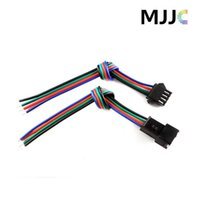 Wholesale Rgb Connectors - 10Sets JST Male Female LED Connectors with 15cm 4Pin 22AWG RGB Cable Wire on One Side for 3528 5050 RGB LED Light Strips