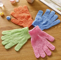 Wholesale spa bath cleaning - Moisturizing Spa Skin Care Cloth Bath Glove Exfoliating Gloves Cloth Scrubber Face Body Bath Gloves CCA7794 1000pcs