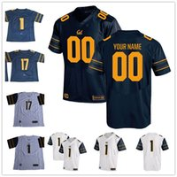 Wholesale Football Bearing - Custom California Golden Bears College Football 2017 Cal navy blue white Stitched Any Name Number 3 Bowers 8 Rodgers Lynch Men Jerseys S-3XL